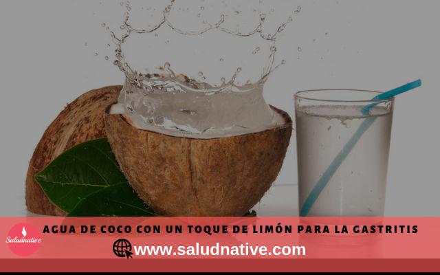 agua de coco y limon para la gastritis