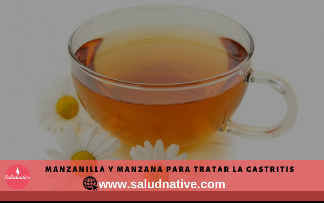 manzanilla y manzana para curar la gastritis