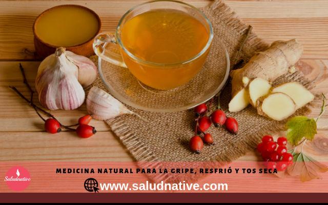 medicina natural para curar la gripe. resfrió. tos seca