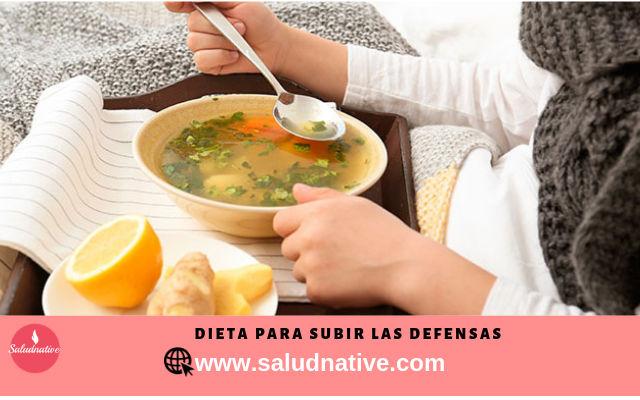 dieta para subir las defensas y fortalecer el sistema
