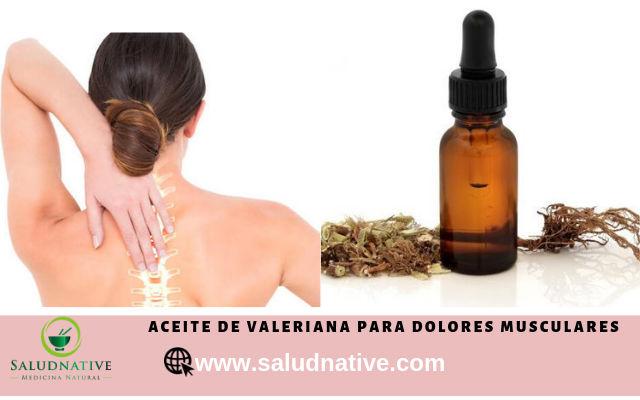 aceite de valeriana para dolores musculares
