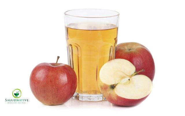 agua de manzanas para bajar la fiebre