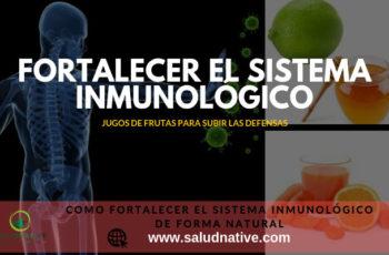 como fortalecer el sistema inmunologico de forma natural