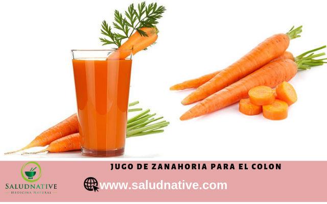 jugo de zanahoria para desinflamar el colon