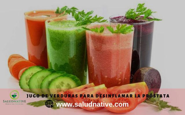 jugos de verduras para desinflamar la prostata