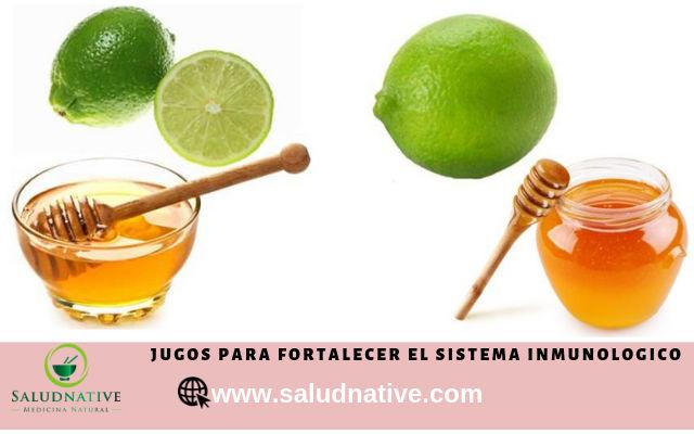 limon con miel para fortalecer el sistema inmunologico
