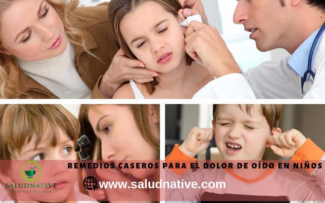 como curar dolor de oido en niños