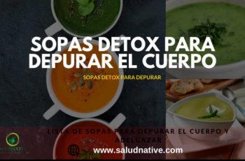 sopas detox para depurar el cuerpo y perder peso