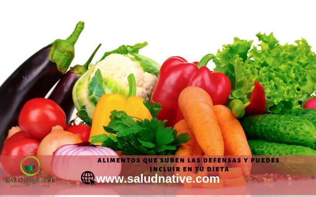 verduras que ayudan a subir las defensas rapidamente