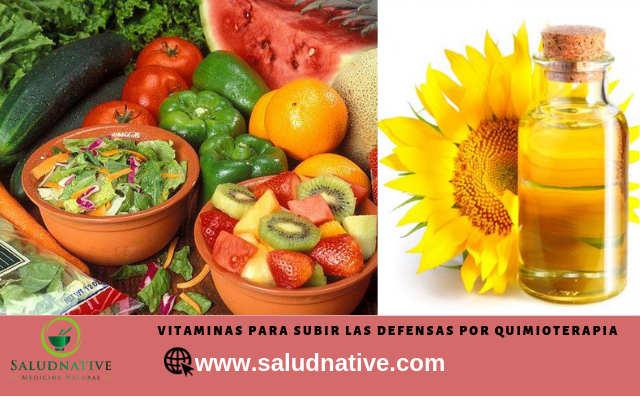vitaminas para subir defensas en cancer