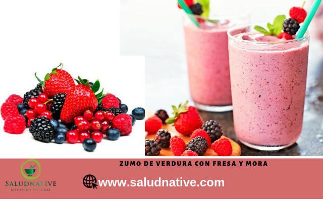 zumos de fresa y mora contra el cancer