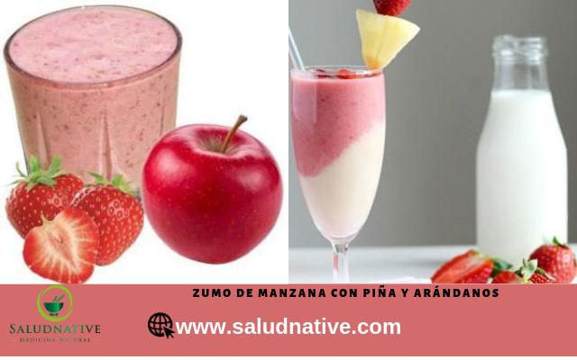 zumos de manzana y fresa para tratamiento del cancer
