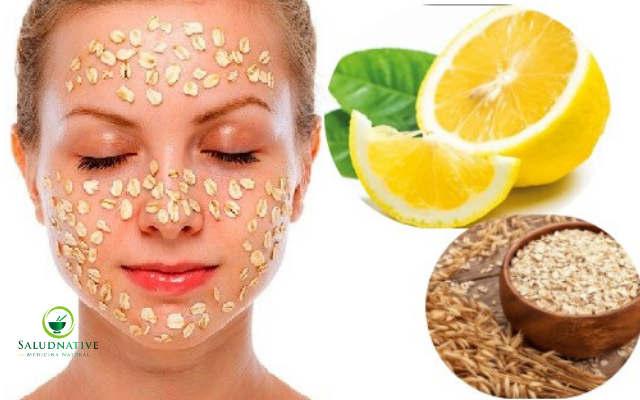 mascarilla de avena y limon para el acné
