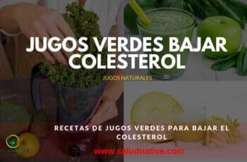 jugos verdes para bajar el colesterol