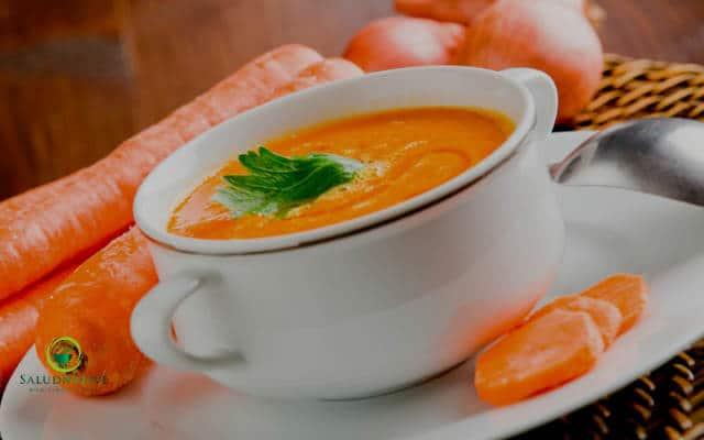 crema de zanahoria y curcuma para bajar el colesterol alto