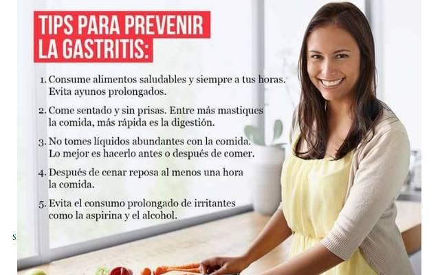 consejos para prevenir la gastritis
